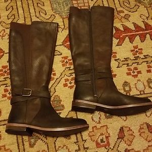 Lucky Brand brown leather boots size 6